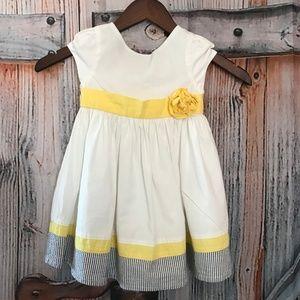 🌸 SALE 📦 3x$10 Gymboree White Dress 18-24 months